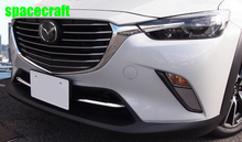 Car front grille trims for mazda cx-3 cx 3 2017 2018,ABS chrome,2pc/lot,free shipping