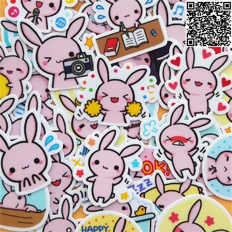 40x//Set Funny Pink Pig Decal Stickers Adhesive Decor for Laptop Car Mobile Phone