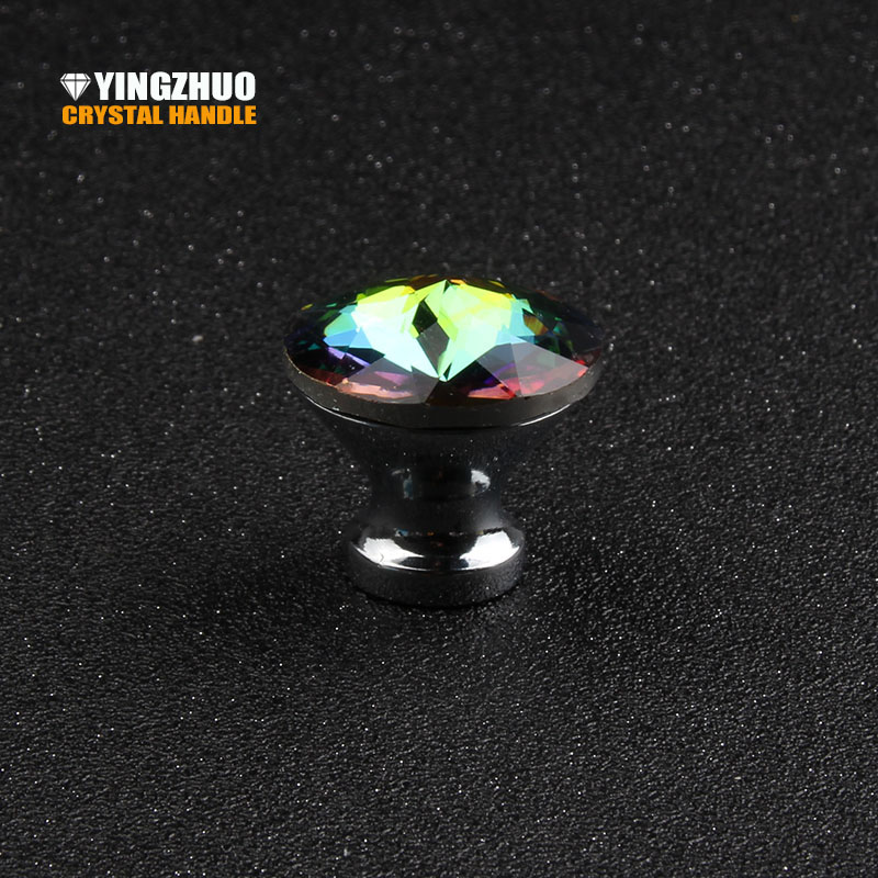 2017 Furniture Door Kitchen Cabinet Drawer Wardrobe Pull Handle 5pcs 30mm K9 Crystal Glass Diamond Shape Knob With 25mm Screw phoenix kitchen cabinet drawer knob furniture handel