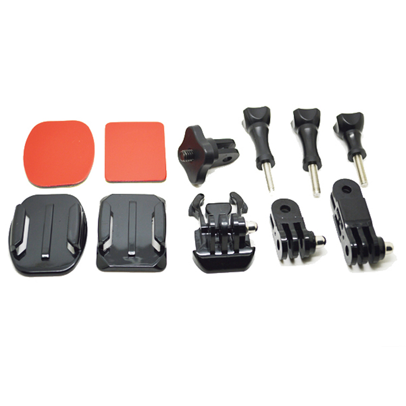 For Xiaomi Yi Tripod Adapter Set:3-Way Adjustable Arm Mount+Convert+3M Sticker+1/4 inch Connector Using For GoPro SJCAM