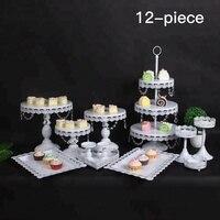 Каретки Кристалл уровня свадебные 3 сердце Форма золота торт стенд с куполом