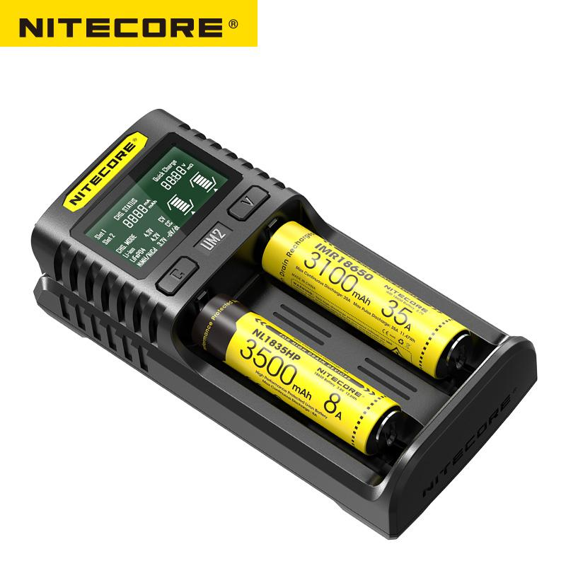 Image 4 - Nitecore UM2 USB Dual SlOT QC Charger Intelligent Circuitry Global Insurance li ion AA 18650 20700 26500 26650 Charger-in Portable Lighting Accessories from Lights & Lighting