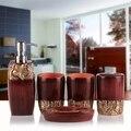 Hot 5 Teile/satz Europäischen Stil Bad Zubehör set Seifenschale Dispenser Tumbler Wc bürstenhalter Banheiro Gadgets-in Badezimmer Zubehör-Sets aus Heim und Garten bei