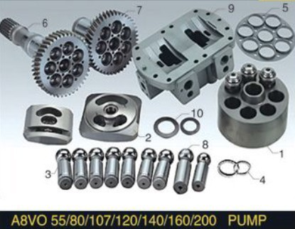 Rexroth Piston Pump Parts A8VO80 Plunger Pump cylinder block valve plate repair kit