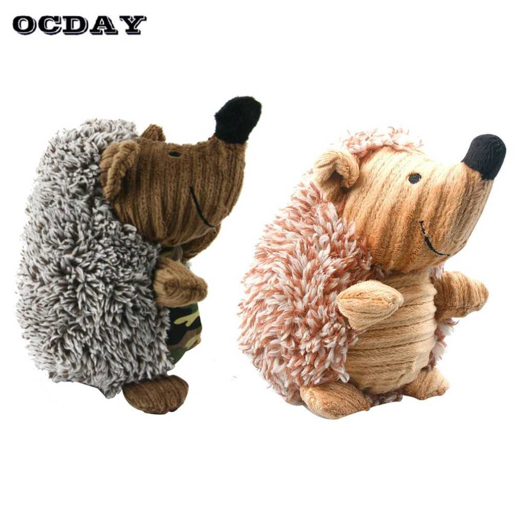 Hot! OCDAY Pet Plush Squeak Sound Toy Funny Interactive Training Squeaky Chewing Play Toys For Children Kids Gifts