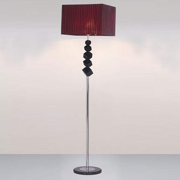 Lamp Shade Rectangle Red Wine