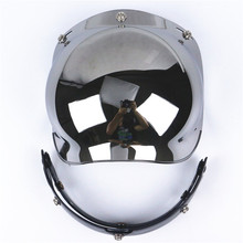 Compatible Motorcycle Bubble Visor 3 pin buckle Motorbike Helmet glass UV 400 Protection visor