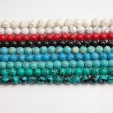 Piedras Naturales lisas, gules azules y blancas, turquesas negras, cuentas redondas sueltas de 15