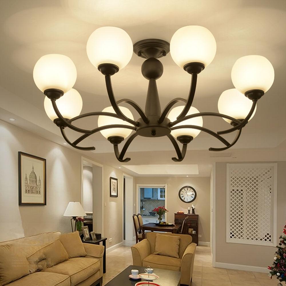 HGHomeart Amerikanischen Retro LED Deckenleuchten Schlafzimmer Lampe ...