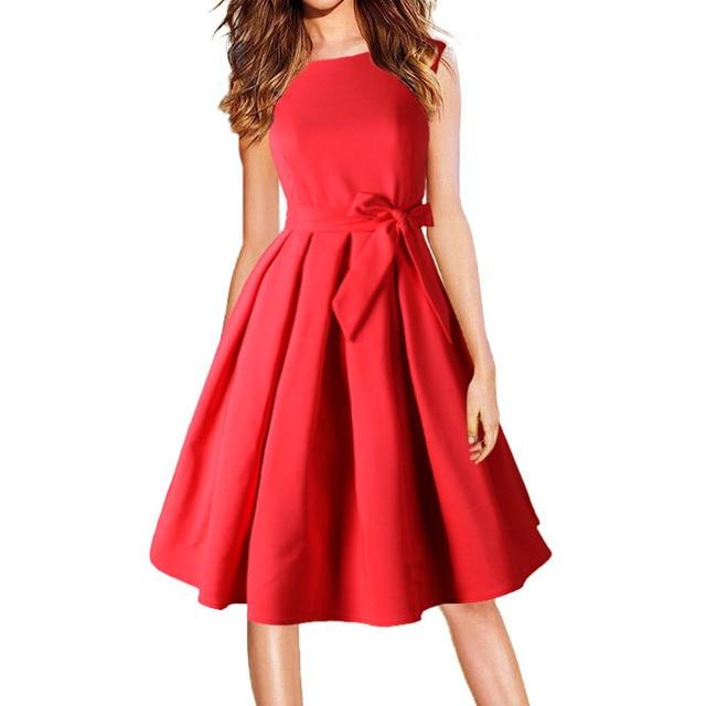 Vestidos rojo negro