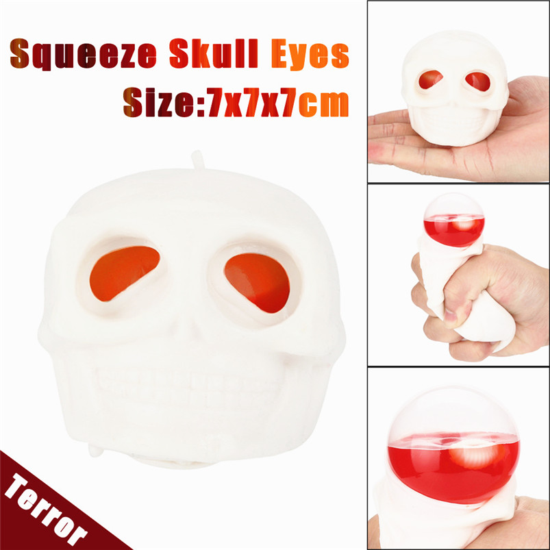 1pcs antistress ball Mini Squeeze Toy Squishy Skull Cute Stress Relief Toy Decor decompr ...