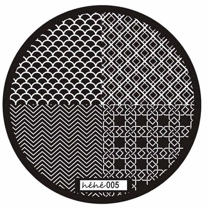 2017 Pattern Nail Art Image Stamp Stamping Plates Manicure Template 005 X7205Down