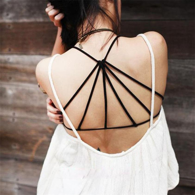 Womens Black  White  Criss Cross Hollow Crop Tops Summer Sexy Fitness 2019  New Arrival Casual Style For Girls Tank Top FE08#