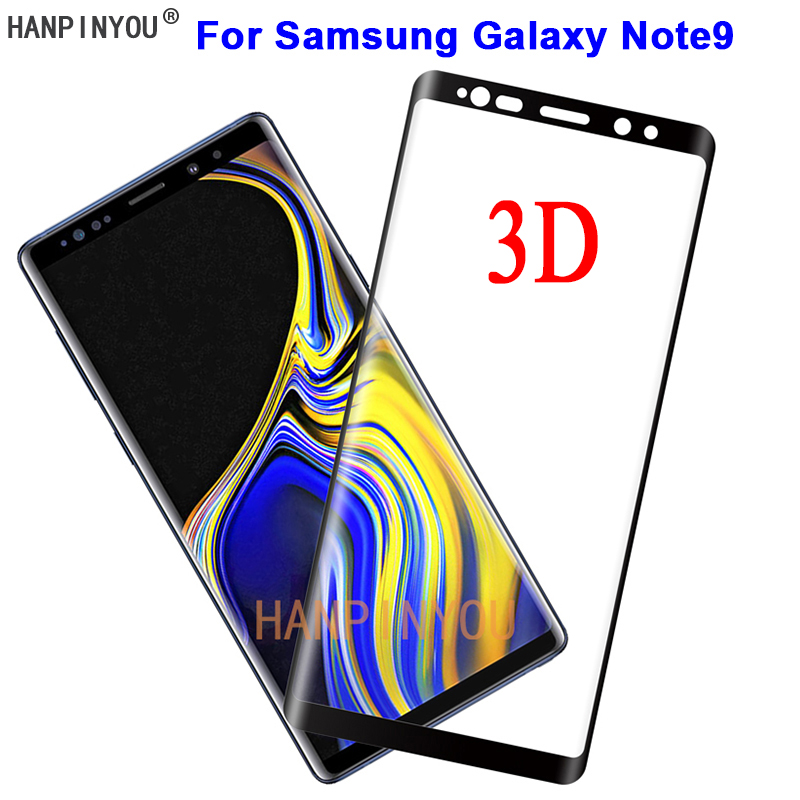 For Samsung Galaxy Note9 Note 9 N9600 9H Hardness 3D Full Cover Slim Toughened Curved Tempered Glass Film Screen Protector Guard-in Phone Screen ...