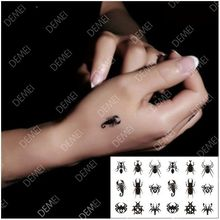 (Min Order $0.5) Temporary Tattoo Flash Gold Fake Tatto Golden Metallic Metalic Flash Tattoo Waterproof Stickers WM028