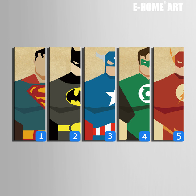 Hd superman posters canvas art print painting poster for E home products