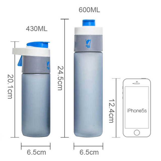 Plastic Spray Water Bottle with Straw