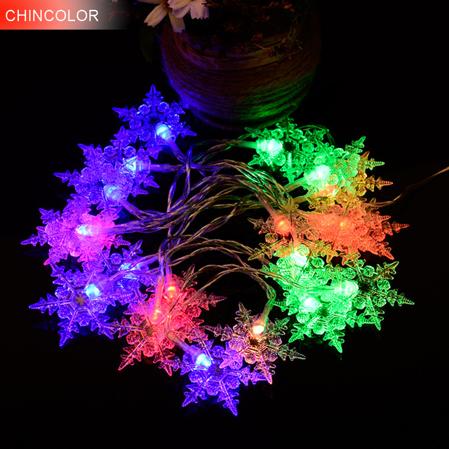 20leds Hexagonal Snowflake Holiday Lights 2 2meters Led Light String Battery Operated Xmas Christmas Wine Bar Party Decor Da