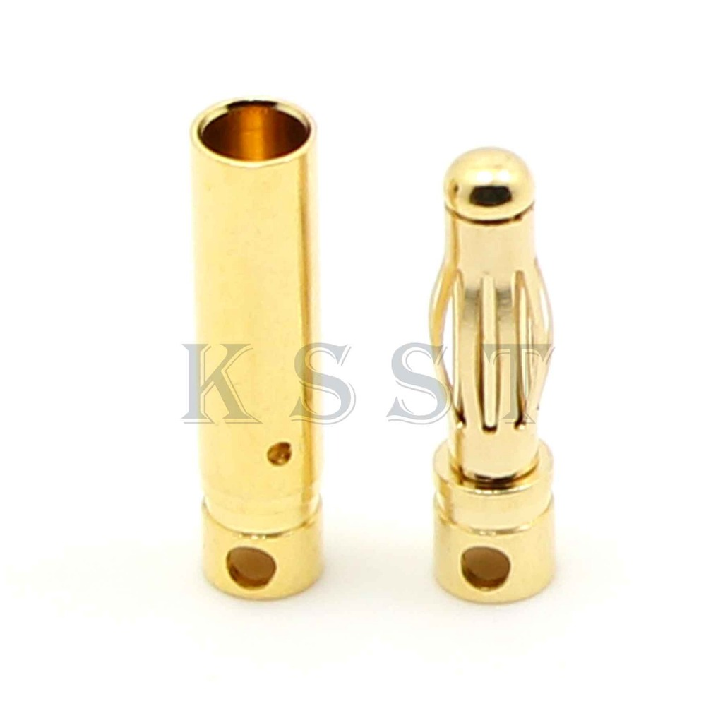 Pack of 5 Pairs WST 8.0mm Gold Bullet Connector for RC Battery ESC Motor Plug