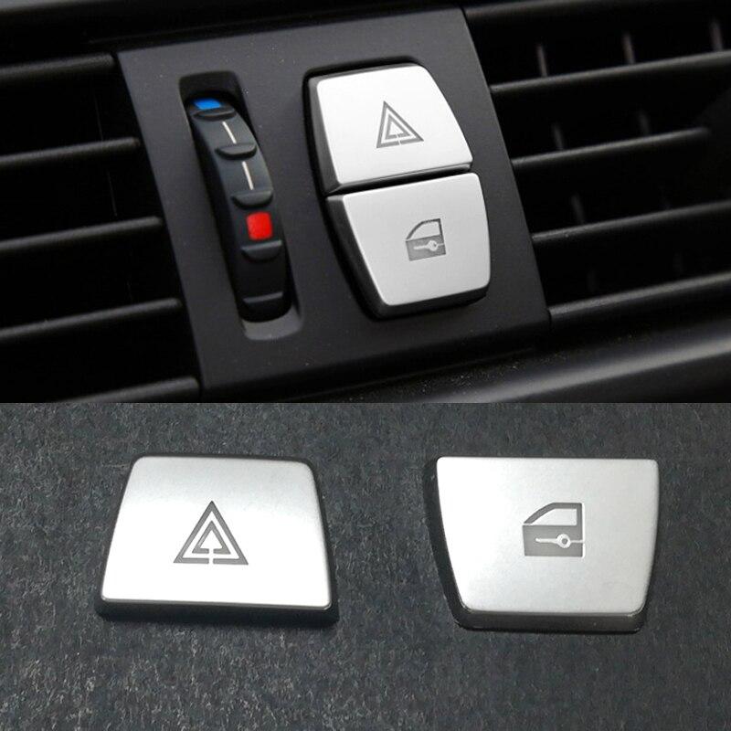 Chrom ABS aufkleber auto warnung licht taste schalter abdeckung trim innen zubehör für BMW F06 F07 F10 F15 F16 F25 f26 X3 X4 X5