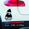 Fashion Lovely Baby On Board Warning Decal Reflective Waterproof Car Window Vinyl Stickers Color Black White Wholesale
