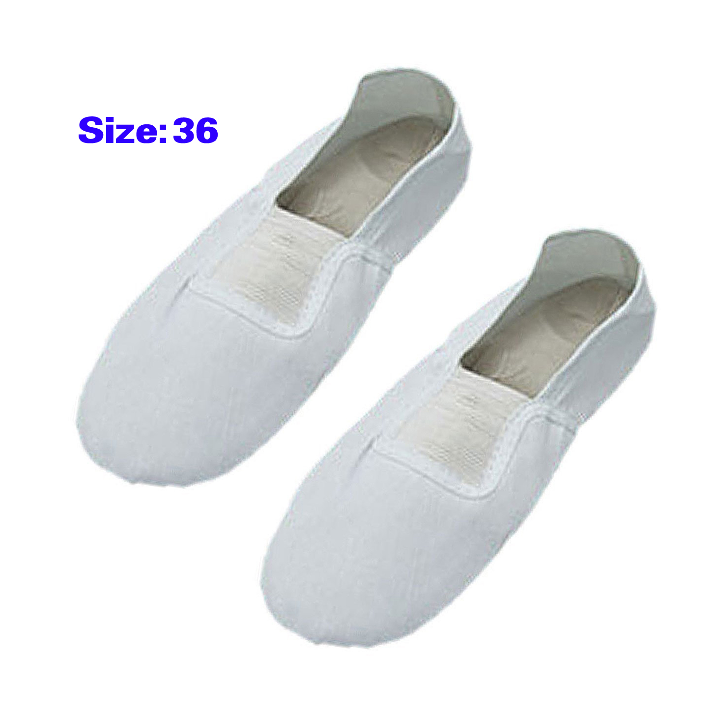 Elastic Band White Dancing Dance Girls Shoes Size 11.5