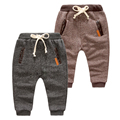 Child casual knitted trousers boys pants child 100% cotton loop pile health pants 2017 spring and autumn baby trousers