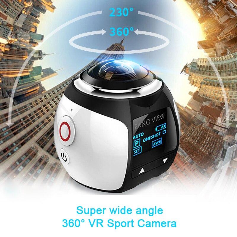 360 Mini WiFi Panoramic Video Camera 4K 16MP Photo 3D Sports DV DVR 30m Waterproof Digital