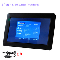 LEADSTAR 9 Digital Led Lcd Tv Support TF Card USB Multimedia Playing Portable Television With Headphone