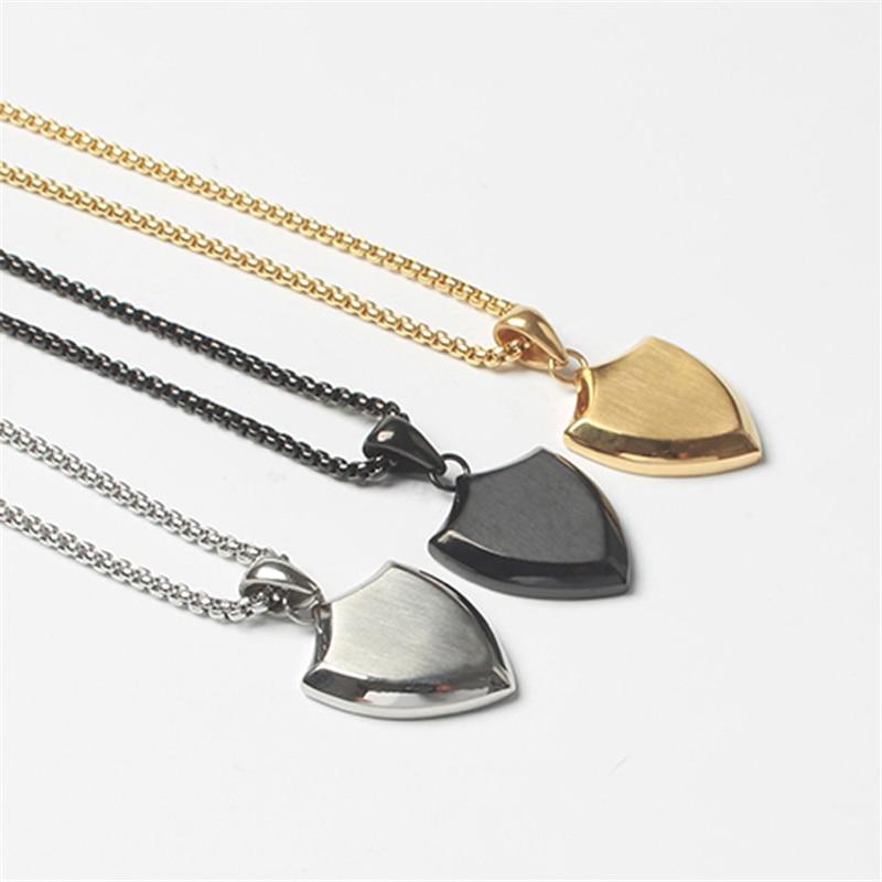 Minimalism Necklace For Men & Women Hot Couple Jewelry 316L Titanium Steel Gold Fitness Pendant Maxi Long Chain Choker Necklace Ожерелье