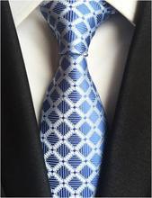 Ricnais Classic Silk Men Tie Plaid Neck Ties 8cm Green Blue Ties for Men Formal Wear Business Suit Wedding Party Gravatas