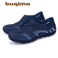 buqima Summer jelly shoes hole slippers upstream bird mens casual beach