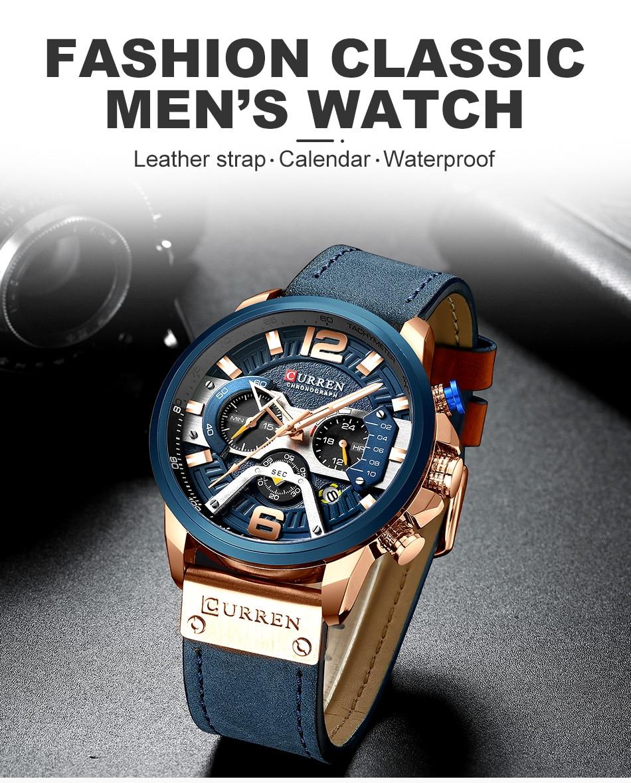 HTB1jMrHVQzoK1RjSZFlq6yi4VXa1 CURREN Luxury Brand Men Analog Leather Sports Watches Men's Army Military Watch Male Date Quartz Clock Relogio Masculino 2019