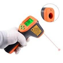 FOSHIO LCD Digital Termômetro Infravermelho Laser Ponto Gun Sem Contato Medidor de Temperatura Termômetro Pyrometer IR-50 ~ 650 Graus