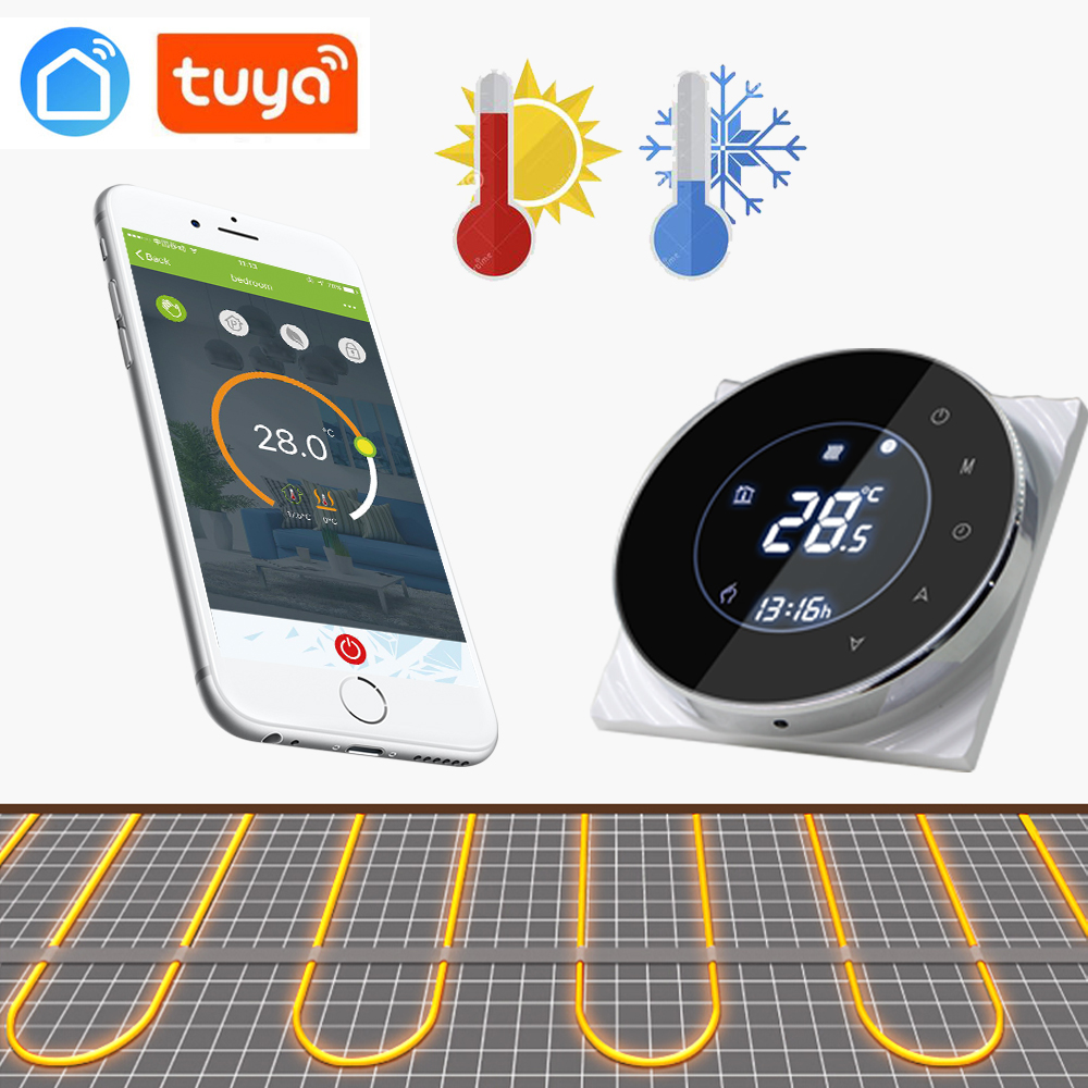 WIFI 16A Thermoregulator Touch Screen Thermostat For Warm Floor, Electric Heating System Thermostat With Google Home/Alexa/echo