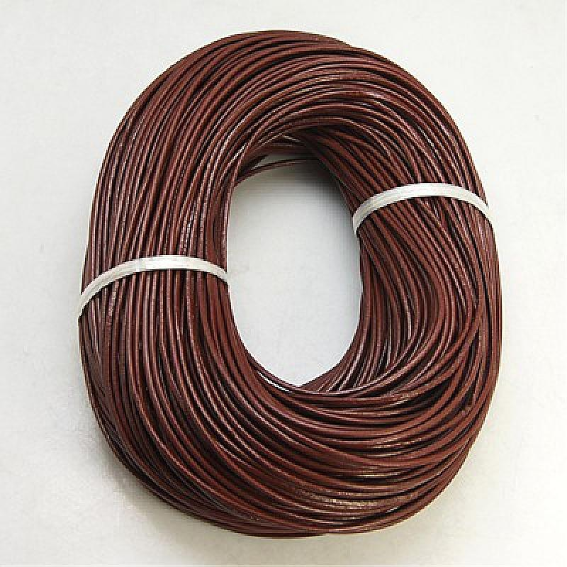 100m SaddleBrown Cowhide Leather Cord 2mm Round Leather Jewelry Cord Jewelry DIY Making Material100m SaddleBrown Cowhide Leather Cord 2mm Round Leather Jewelry Cord Jewelry DIY Making Material