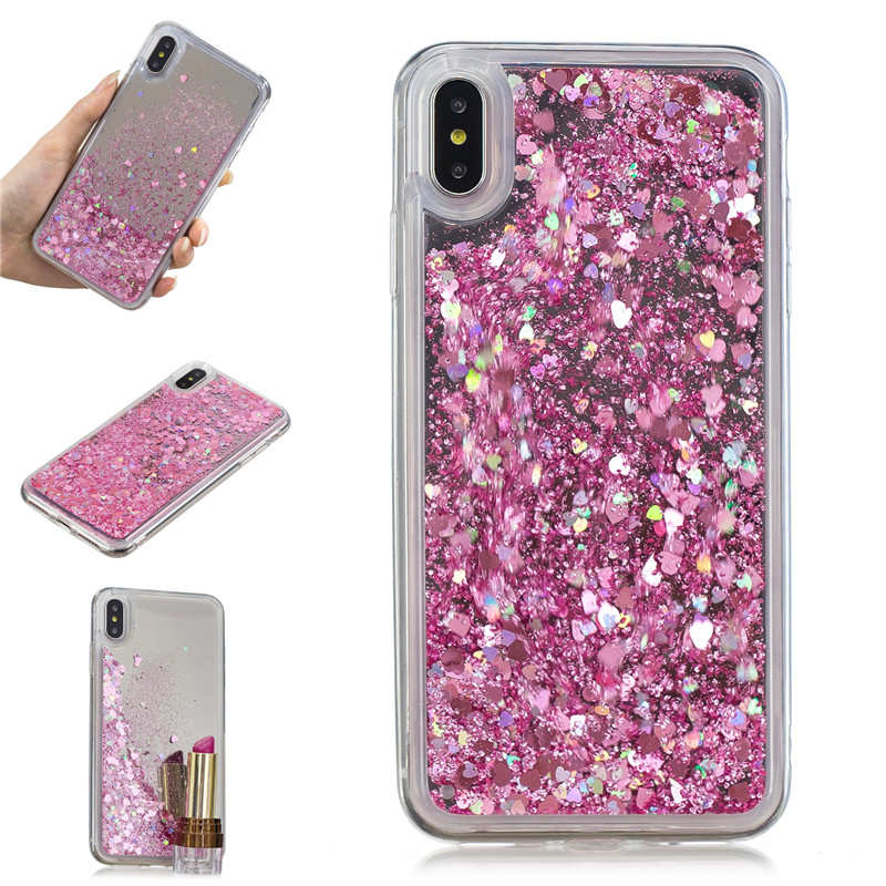 Cover For iPhone XS Max Case Quicksand Flash Glitter