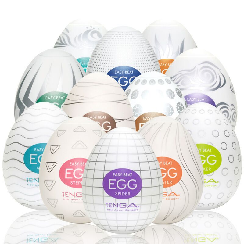 6Pc/Set Tenga <font><b>EGG</b></font> Men Portable <font><b>EGG</b></font> G-spot Stimulator Massager Pleasure <font><b>Sex</b></font> <font><b>Toys</b></font> For Men Artificial Vagina Mouth Anal Erotic Oral image