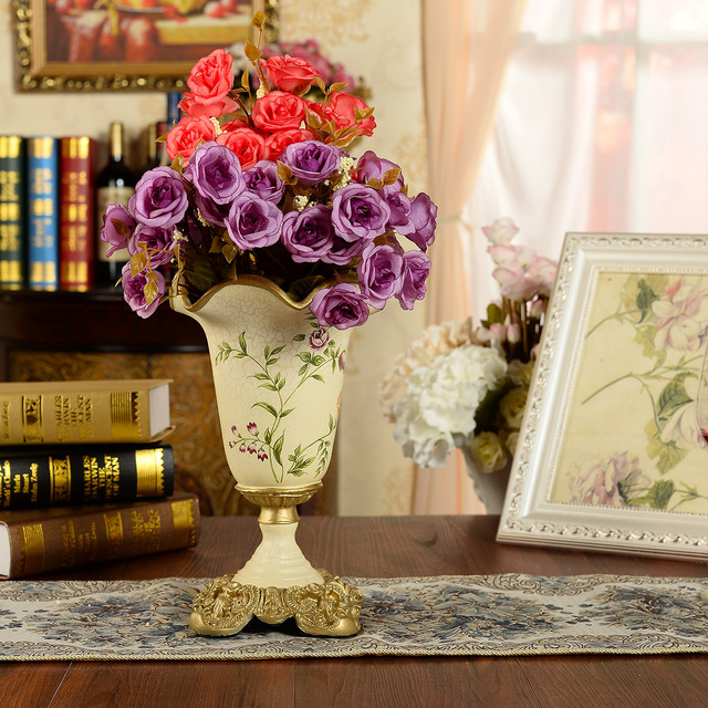 Aliexpress Buy Fashion Vase Vintage Lusterware Flower Crafts