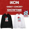 IKON Debut Concert BI should aid BOBBY Jinhan Bin Kim Ji Yuan same paragraph plus velvet hoodie  sweatshirt