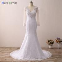 Vestido De Noiva Sexy See Through Back Wedding Dress Cap Sleeve Lace Mermaid Wedding Dresses 2016