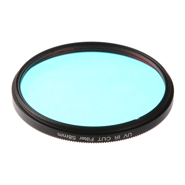 FOTGA Optical Glass UV IR CUT Filter 52mm 58mm Infrared Pass X Ray For DSLR Nikon Canon Camera