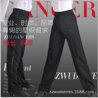 Free Shipping New Arrival Discount On Sale Black Satin Boys or Men Latin Modern Ballroom Performance Dance Pants