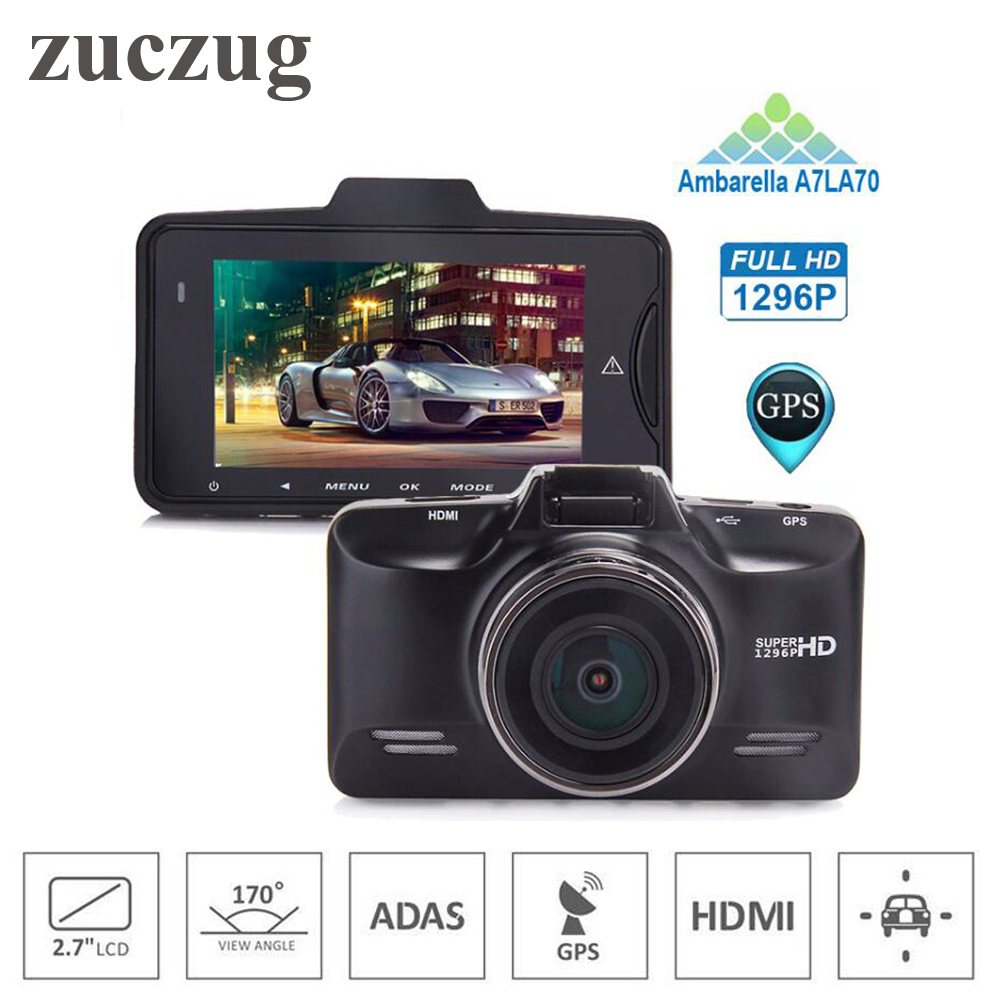 ZUCZUG Car Camera Video Recorder GS98C Ambarella A7LA70 chip Car DVR Camera Full HD 2304*1296P 30FPS with G-Sensor Dash Cam