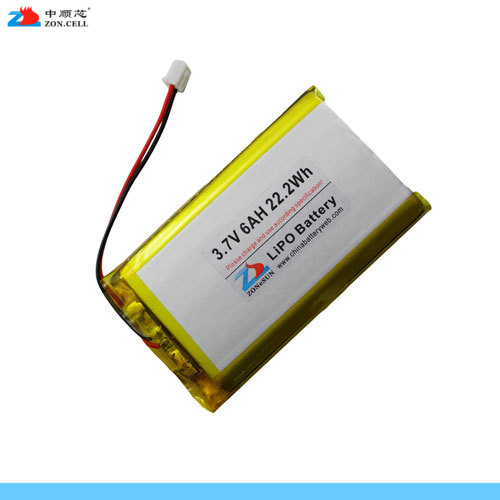 In 3.7V 6000mAh 105085 lithium polymer batteries mobile power LED lighting lamp flashlight Rechargeable Li-ion Cell brown 3 7v lithium polymer battery 7565121 charging treasure mobile power charging core 8000 ma rechargeable li ion cell