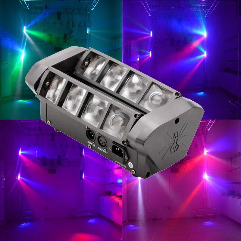 Mini Led Spider Light 8X10W RGBW Moving Head Beam Light 8 Eyes Led Moving Head DJ Effect Lighting For Bar Nightclub