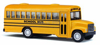 Brand New Classic Yellow School Bus Vintage Die Cast Boys Collectible 1 18 Scale Pull Back