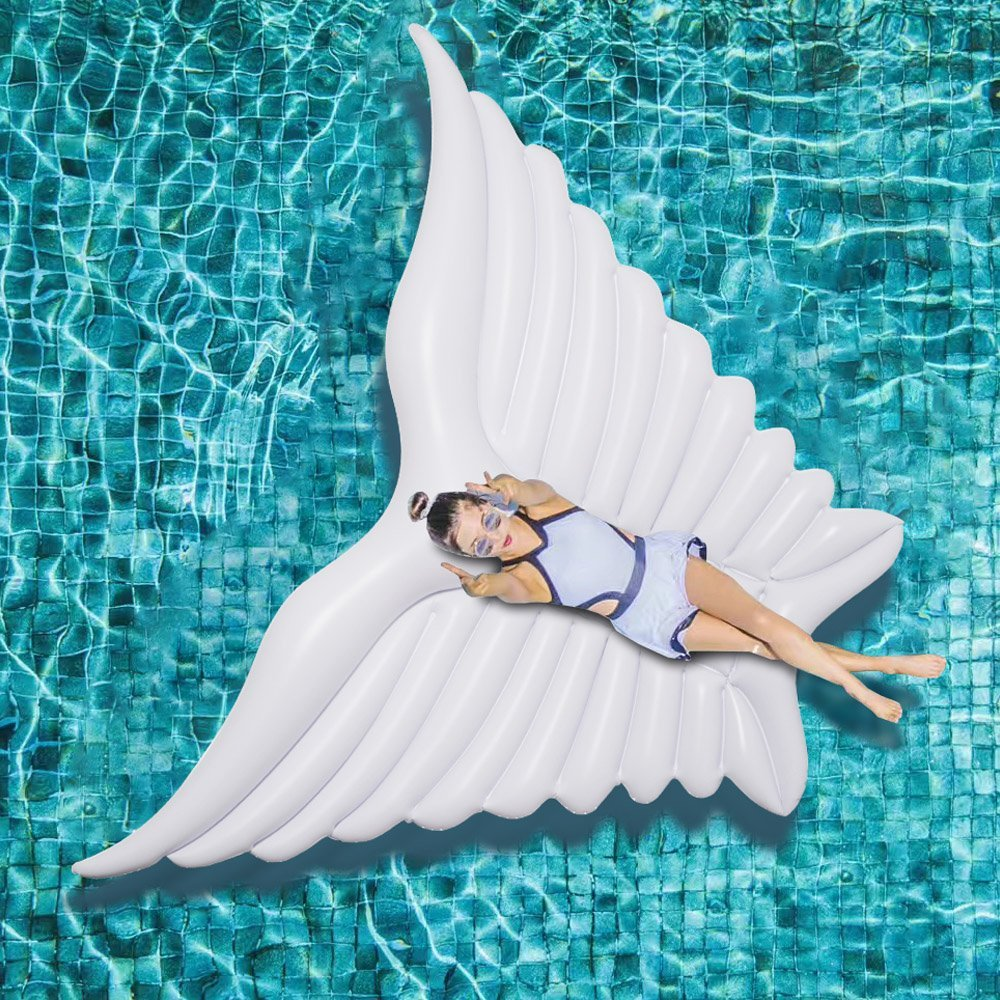 Giant White Angel Wings Inflatable Pool 1