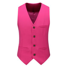 MOGU 12 Colors Men's Smart Casual Slim Vests Fashion Mens Waistcoat Solid Single Breasted Gilet Homme Fit Male Suit for Men(China)