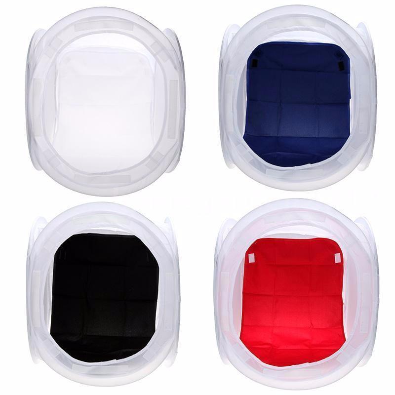 Prix pour 60x60 cm Pliant Photo Studio Lumière Cube Softbox Tir Tente 4 Couleur Décors Tournage Set studio accessoires
